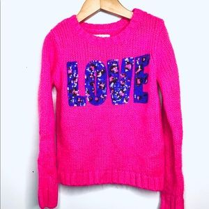 Justice Pink Sweater